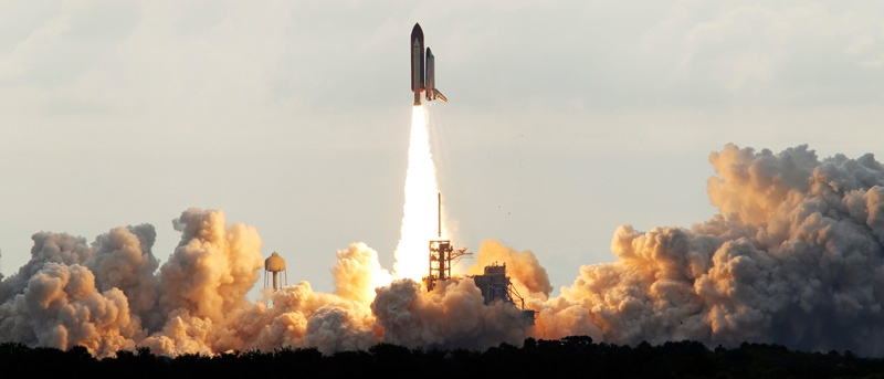 The space shuttle Endeavour lifts off from Kennedy Space Center in Cape Canaveral, Fla., Monday, May 16, 2011. (AP / Terry Renna)