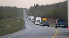 Residents evacuate wildfires in Slave Lake, Alta. Monday, May 16, 2011. (Michael Leonard / MyNews)