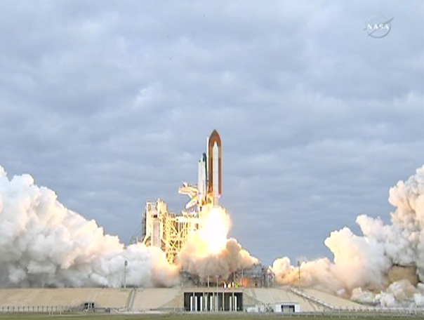 Space shuttle Endeavour blasts off from Kennedy Space Center in Cape Canaveral, Fla., Monday, May 16, 2011