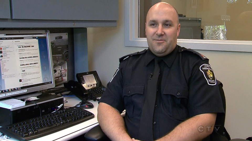 York Regional Police Const. Blair McQuillan appears on CTV News on Wednesday, Aug. 14, 2013.