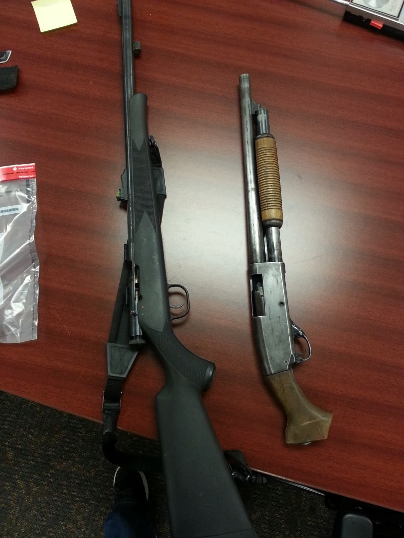 London police released this photo of guns seized during a raid on Rectory Street in London, Ont.