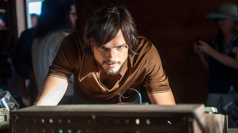 Ashton Kutcher in a scene from eOne Films Canada's 'Jobs'