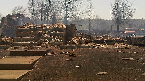 The province has reported 40 per cent of the Town of Slave Lake has been destroyed by flames. CTV News got a closer look at the devastation in Slave Lake on Monday, May 16, 2011.