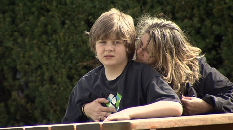 Josh Heckley, 11, doesn�t respond to drug treatments and often falls into rages where he is barely able to speak.  May 17, 2011.  (CTV)