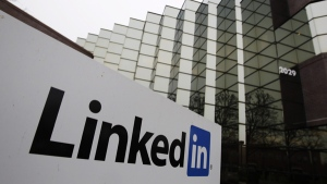 An exterior view of LinkedIn headquarters is seen in Mountain View, Calif., Friday, Jan. 28, 2011. (AP / Paul Sakuma)