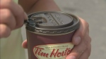 CTV BC: Man flips lid over Tim Hortons coffee cups