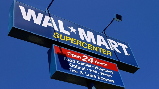The Wal-Mart Supercenter signage is seen in Springfield, Ill., Monday, May 16, 2011. (AP / Seth Perlman)