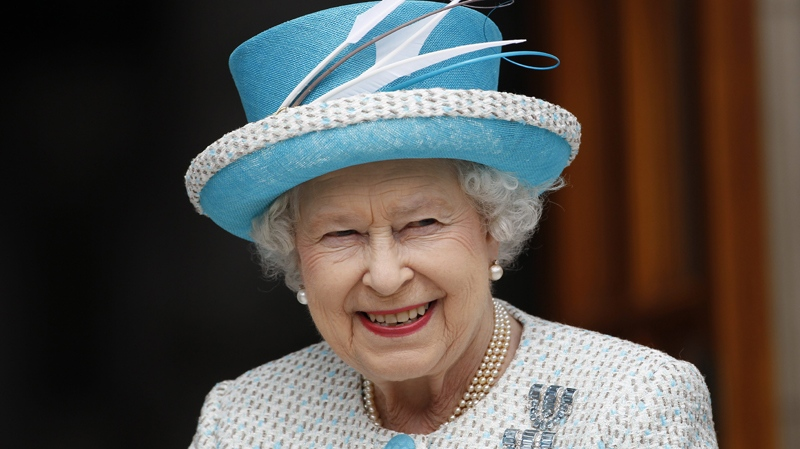 Queen Elizabeth II arrives at Government Buildings in Dublin, Wednesday, May 18, 2011. (AP / Peter Morrison)
