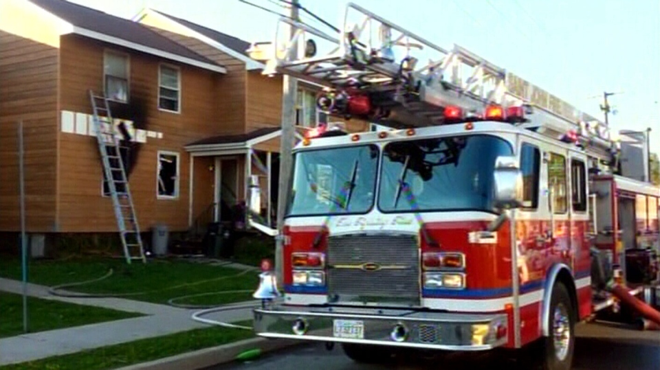 An apartment fire left 13 people homeless in Saint John, N.B., Saturday, Aug. 17, 2013. (Source: Joseph Comeau)