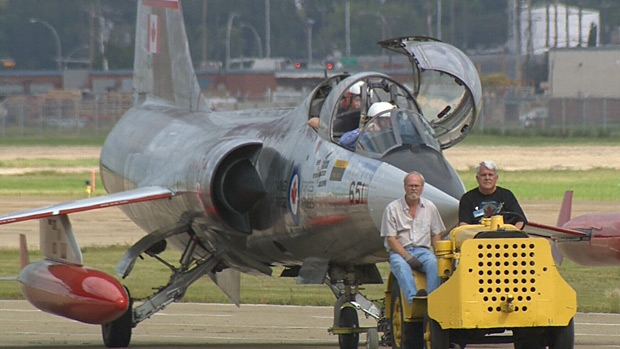 The Alberta Aviation Museum rolled out its latest prize, the Starfighter, which was used in the Cold War.