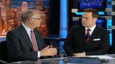 Montreal Mayor Gerald Tremblay makes his case to CTV Montreal anchor Todd van der Heyden.