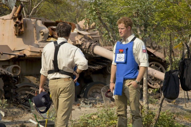 Prince Harry in Angola