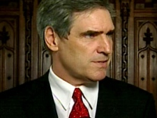 Liberal Deputy Leader Michael Ignatieff answers questions from the press outside the House of Commons in Ottawa on Monday, May, 26, 2008.