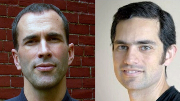 Canadians John Greyson, left, and Tarek Loubani, right, remain detained in an Egyptian prison.