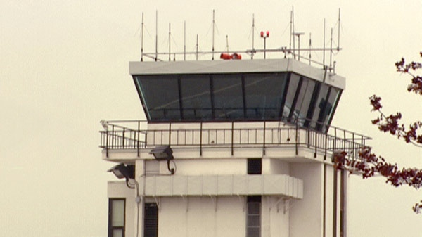 The air traffic control tower at the Region of Waterloo International Airport is seen on Wednesday, May 18, 2011.