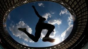 At the World Athletics Championships in the Luzhniki stadium in Moscow, Russia, on Aug. 18, 2013. (AP / Matt Dunham)
