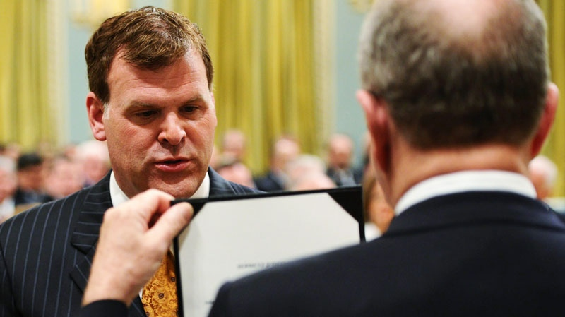 Newly-appointed Foreign Affairs Minister John Baird is sworn in at Rideau Hall in Ottawa on Wednesday, May 18, 2011. (Sean Kilpatrick / THE CANADIAN PRESS)
