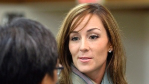 Amanda Lindhout attends a reception held in her honour by the Alberta Somali-Canadian community in Calgary on Sunday Feb. 21, 2010. (Larry MacDougal / THE CANADIAN PRESS)