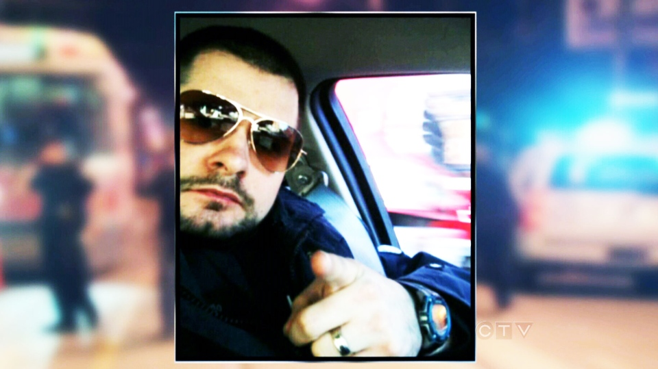 Toronto Police Const. James Forcillo, seen here as part of the Movember campaign for prostate cancer awareness, has been identified as the officer involved in the fatal shooting of 18-year-old Sammy Yatim.