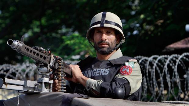 Pakistani paramilitary soldier