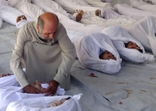 Syria chemical attack children dead gruesome image