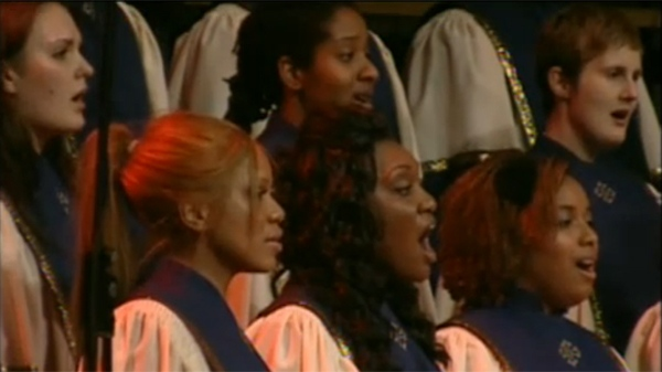 Montreal's Jubilation Choir sang Thursday night at the launch of a new fund for prostate cancer (May 19, 2011)