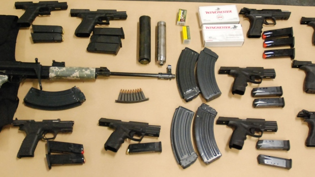 Several guns are shown in this file photo.