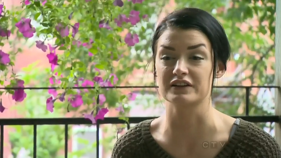 Katie Nelson says she has been subjected to harassment by Montreal police because she opposes tuition hikes (Aug. 9, 2013)