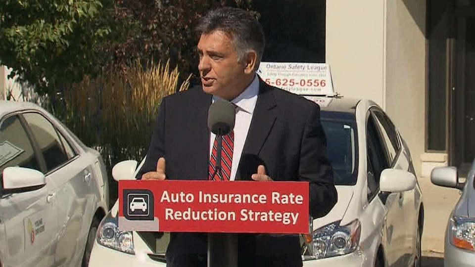 Finance Minister Charles Sousa speaks during a press conference, Friday, Aug. 23, 2013.