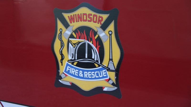 File photo of the side of a Windsor Fire and Rescue Services truck in Windsor, Ont., on Friday, Aug. 23, 2013. (Melanie Borrelli / CTV Windsor)