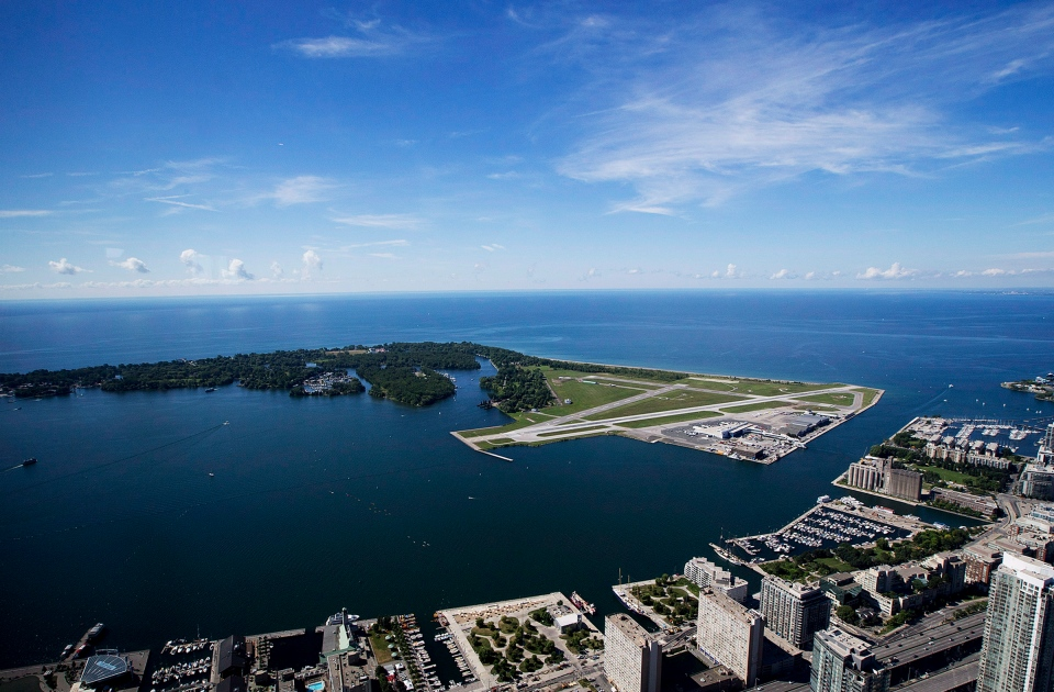 Billy Bishop Toronto City Airport is pictured on Friday, July 26, 2013. (The Canadian Press/Michelle Siu)