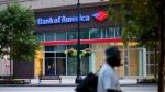 A Bank of America branch is seen along Peachtree Street, Tuesday, July 16, 2013, in Atlanta.  (AP Photo/David Goldman)