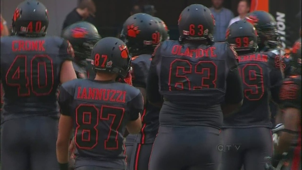 CTV BC: Black is the new orange: Lions' new jersey