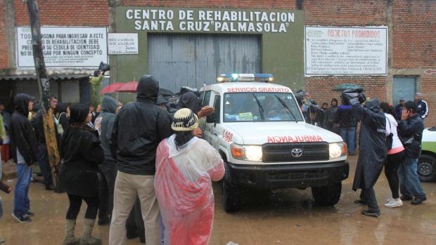 Inmates of the Palmasola jail in Santa Cruz