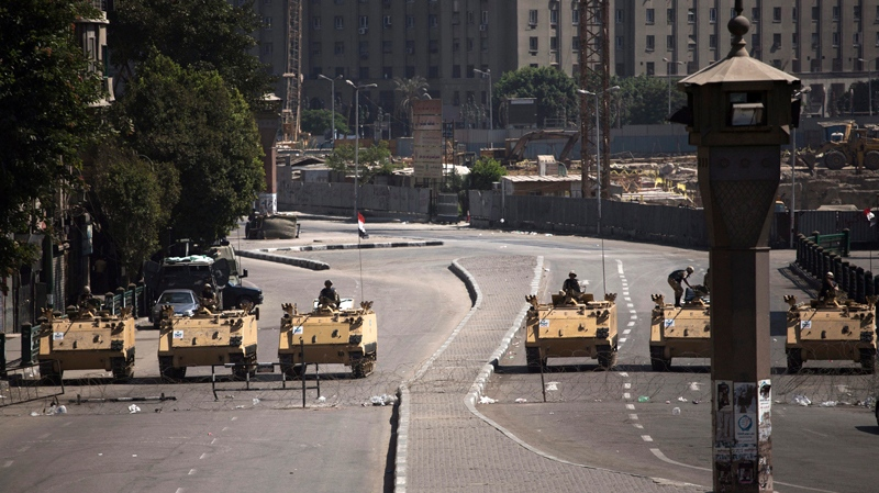Egypt's interim PM says focus is security