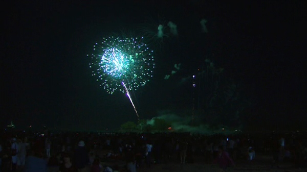 A fireworks display at Ashbridge's Bay Park will celebrate the Victoria Day holiday on Monday, May 23, 2011.