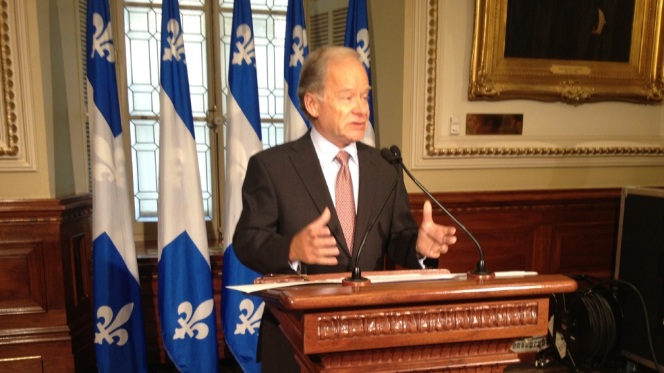 Raymond Bachand, MNA for Outremont, announced on Monday Aug. 26, 2013 that he is quitting politics (CTV Montreal/Fred Bissonnette)