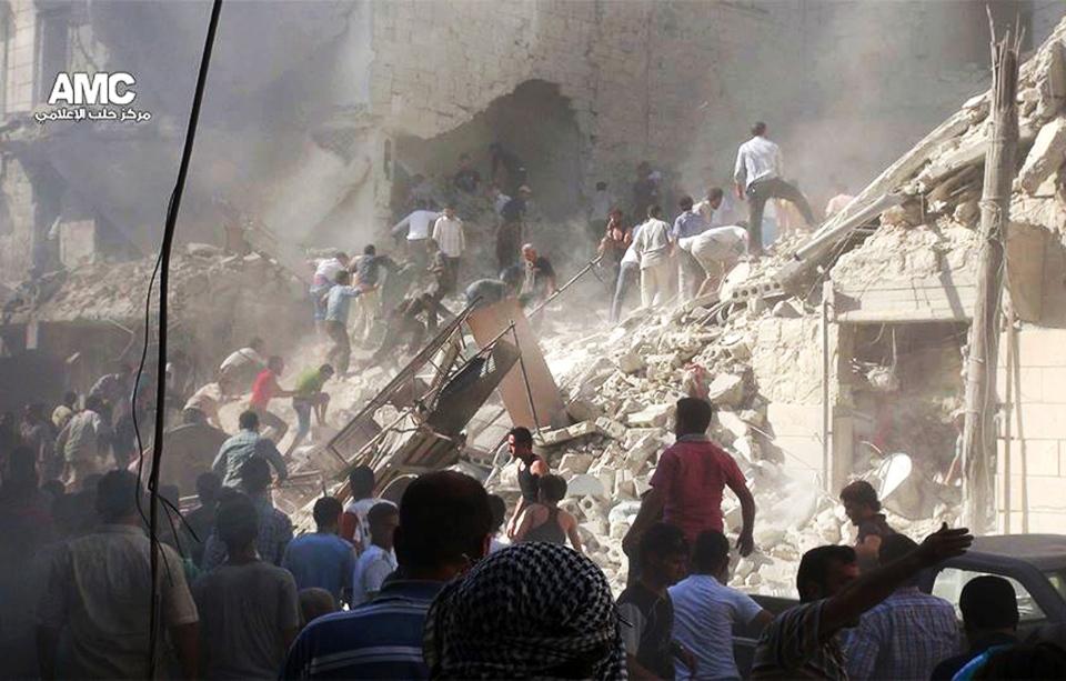 Syria damaged buildings
