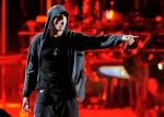 Eminem performs onstage at the 2012 Coachella Valley Music and Arts Festival in Indio, Calif. on April 15, 2012. (AP / Chris Pizzello)