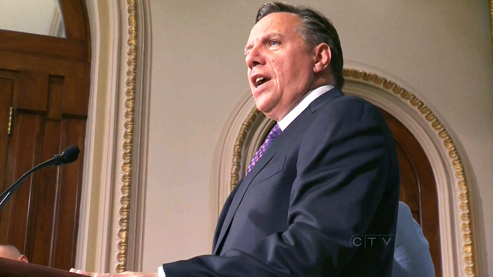 Coalition Avenir Quebec Leader Francois Legault speaks at the Legislature in Quebec City, Monday, Aug. 26, 2013.