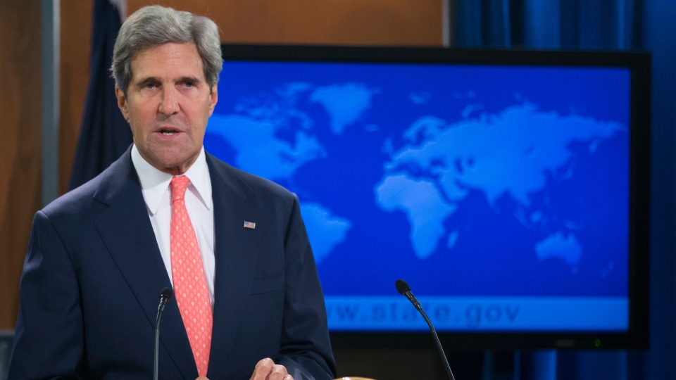 Secretary of State John Kerry speaks about the situation in Syria at the State Department in Washington, Monday, Aug. 26, 2013. (AP / Manuel Balce Ceneta)