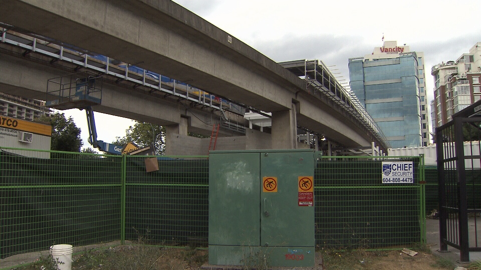 TransLink's $165,000 art installation will be part of the new Main Street SkyTrain Station, which is slated to open up in 2014. Aug. 26, 2013. (CTV)
