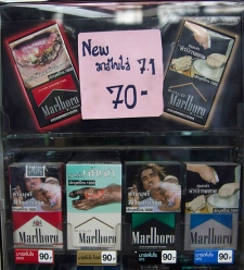 Large warnings off cigarette packages