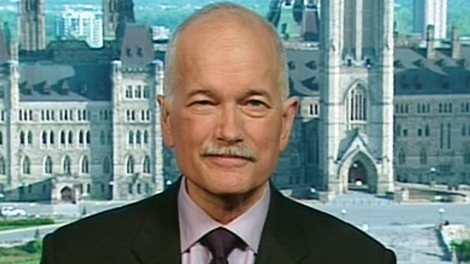 Jack Layton appears on CTV's Canada AM.