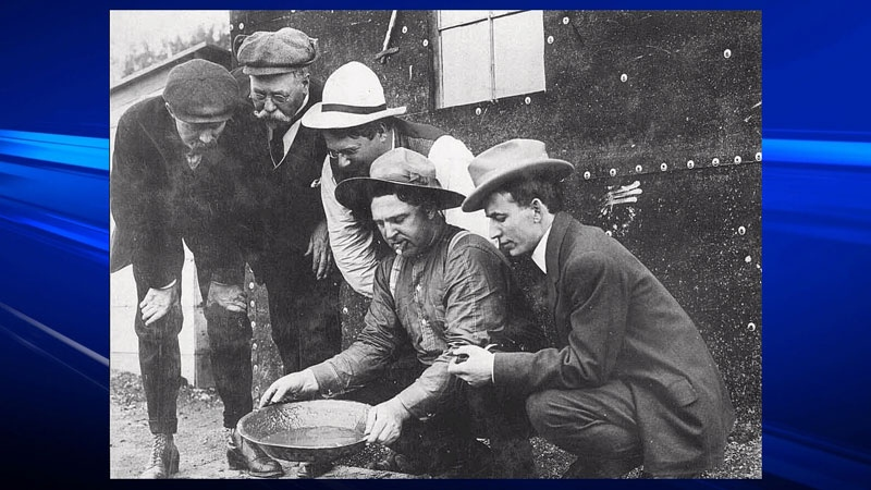 Prospectors search for gold in the 1800s