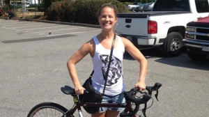 Vancouver resident Kayla Smith, who stole back her own stolen bike, has become an instant celebrity online. Aug. 27, 2013. (Facebook)