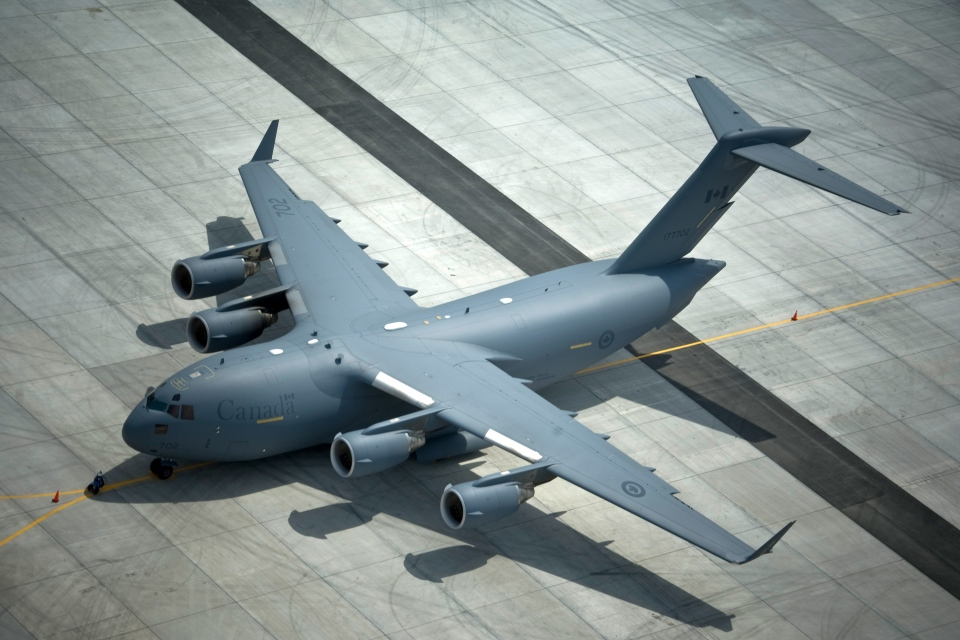 A CC-177 Globemaster III from 429 Transport Squadron at Canadian Forces Base Trenton. (Cpl. Igor Loutsiouk  / Canadian Forces Combat Camera)