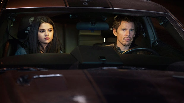 Selena Gomez, left, and Ethan Hawke in a scene from Warner Bros. Pictures Canada's 'Getaway'