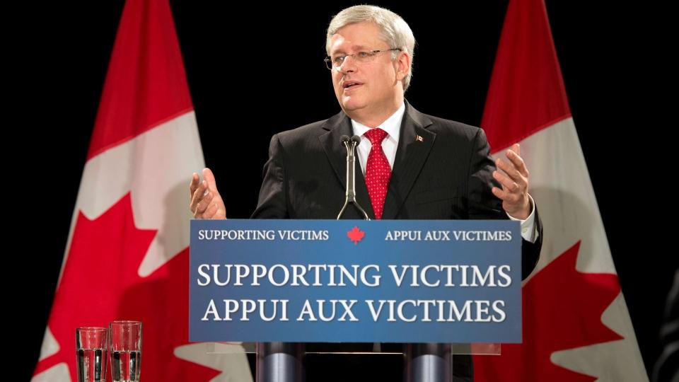 Prime Minister Stephen Harper speaks in Toronto on Thursday, Aug. 29, 2013. (Frank Gunn / THE CANADIAN PRESS)