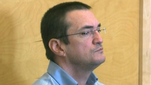 Former Saint John city councillor Donnie Snook appears in court in Corner Brook, N.L., Aug. 19, 2013.
